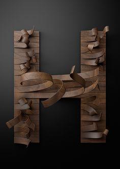 Wooden Type - Just type it by Txaber, via Behance