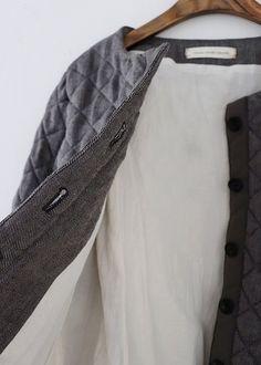 라르니에 정원 LARNIE Vintage&Zakka Clothing Boxes, Sewing, Coat, How To Wear, Jackets, Outfits, Clothes, Style, Fashion