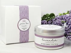 $12.00 Candle Wax, Soy Wax Candles, Lavender Candles, Handmade Candles, Vanilla, Gifts, Presents, Favors, Gift