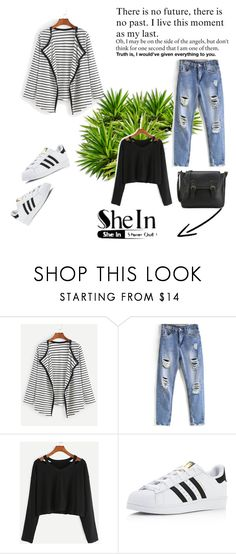 """SheIn 8/V"" by hedija-okanovic ❤ liked on Polyvore featuring adidas and shein"