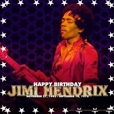 Happy Birthday Jimi Hendrix.  Your unparalleled legacy burns brighter each and every day. Forever in our Hearts.  November 27, 1942 - September 18, 1970 #JimiHendrix #FlyOn #HappyBirthday