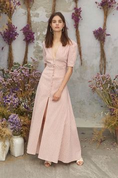 Get inspired and discover Luisa Beccaria trunkshow! Shop the latest Luisa Beccaria collection at Moda Operandi. Fashion Week, Look Fashion, Runway Fashion, Fashion Show, Womens Fashion, Latest Fashion, Fashion 2018, Cotton Dresses, Cute Dresses