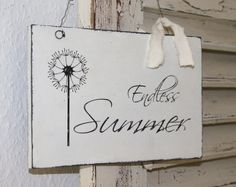 Schild Endless Summer Shabby Chic  von white-living-art auf DaWanda.com