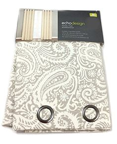 Echo Design Marrakesh 2 Window Panels Grommet Top 100% Cotton Paisley Scrolls 50 by 96-Inch Damask Paisley Taupe Beige Eyelet Heading Echo Design http://www.amazon.com/dp/B00V6H873I/ref=cm_sw_r_pi_dp_2NPfvb1GV19NH