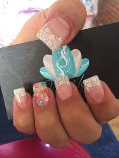 Nails art, acrylic nails, nails, flowers nails