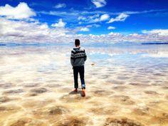 Uyuni Salt Flats in Bolivia  x  #landscape #uyuni #salt #flats #bolivia #photography