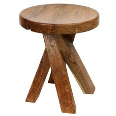 Kazo Twist Stool - Natural Teak - Temple & Webster presents