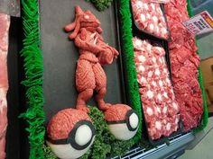 sculptures en viande hachee geek 3   Les sculptures en viande hachée de Epic Grinds   viande Sculpture pop culture Kieran Gormley hache