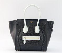 Celine borsa balck con la borsa di albicocche