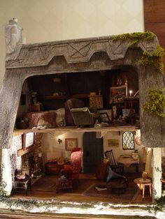 Image result for english cottage dollhouse interior