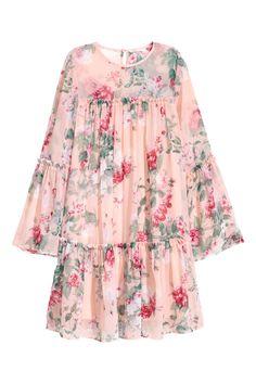 Şifon Elbise - Açık pembe/Çiçekli - KADIN | H&M TR 1