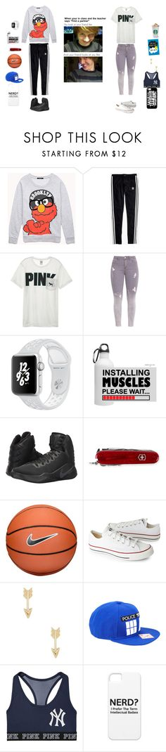 """""""bam..friends reese and me"""" by mollyjoanis ❤ liked on Polyvore featuring Forever 21, Madewell, Victoria's Secret, NIKE, Victorinox Swiss Army, Converse and Hot Topic"""