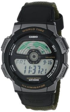 Casio Mens AE1100WB3A Sport MultiFunction Green Dial Watch * Read more reviews of the product by visiting the link on the image.Note:It is affiliate link to Amazon.