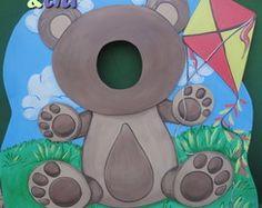 Urso em mdf - decoração festas