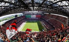 San Siro-home of Inter Milan and AC Milan.  Q and Joel visited and now they need to take me there.  Q got to sit in Thiago Silva's locker room seat.