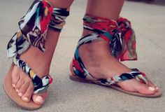 76d888755447 Customizable Strappy Sandals - Go From Boring to Fabulous Using These DIY  Gladiator Wrap Sandals  gimmie