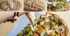 How to Make Cheesy Pull Apart Bread Make an unconventional loaf with delicious surprise inside. Savoury Finger Food, Finger Foods, Sépareur Le Pain, Cheesy Pull Apart Bread, 15 Minute Dinners, Cooking Tips, Cooking Recipes, Great Recipes, Favorite Recipes