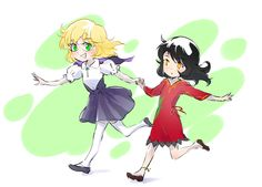 Young Glynda and Cinder