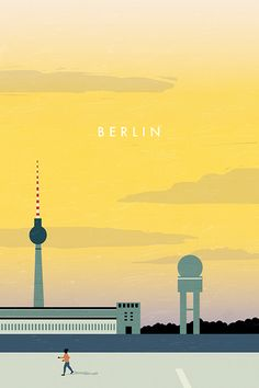 Berlin Poster by Katinka Reinke. Deine Lieblingsorte als Poster, Tasche,Uhr oder Duschvorhang