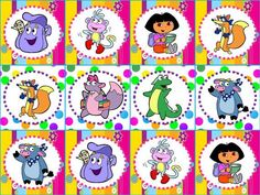 Dora Party Cupcake Toppers