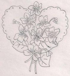 violettes coeur