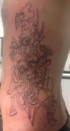 Start of what will be a awesome piece when finished I can't wait to get more :) #kingdom #hearts