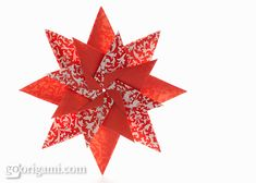 Diagram for an modular origami star, Mandala Carla, designed by Maria Sinayskaya. Folded with 8 rectangular sheets of paper, without glue. Gato Origami, Origami And Kirigami, Origami Paper, Oragami, Origami Tutorial, Flower Tutorial, Akira, Xmas Crafts, Paper Crafts