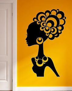 Vinyl Wall Decal African Women Dance Abstract Art Room Decor - How to make vinyl wall decals with silhouette