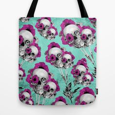 Evolution of poppies, skull pattern. by Kristy Patterson Design