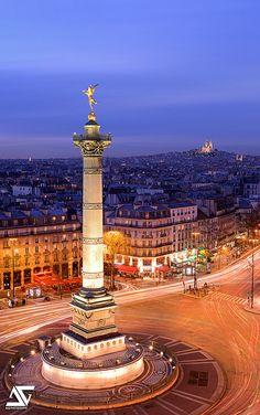 Sacré Coeur et Place de la Bastille | Flickr - Photo Sharing!