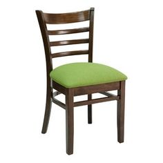 Florida Seating FLS Series Side Chair Finish: Cherry, Upholstery: Ivory