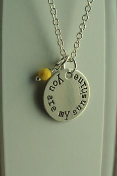 """""""You are my sunshine."""" necklace."""