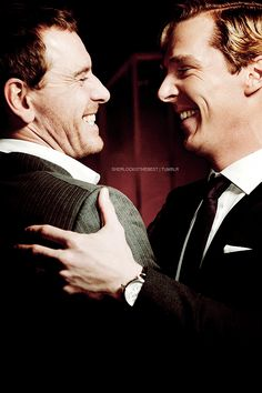 Benedict Cumberbatch and Michael Fassbender... What's happening? I DON'T KNOW, but I want to be the middle of this oreo.