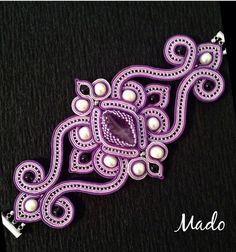 24 Ideas embroidery jewelry tutorial soutache earrings for 2019 Embroidery Monogram, Embroidery Jewelry, Textile Jewelry, Hand Embroidery Designs, Beaded Embroidery, Soutache Bracelet, Soutache Jewelry, Beaded Jewelry, Shibori