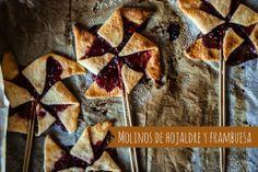 La Cocina de Carolina: Molinos de hojaldre y frambuesa, piruletas