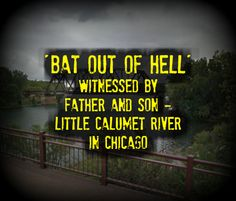 Breaking: 'Bat out of Hell' Witnessed by Father & Son - Little Calumet River in Chicago Bigfoot Sightings, Unexplained Phenomena, Psychic Powers, Chicago River, Phantom, Mothman, Monster, Father And Son