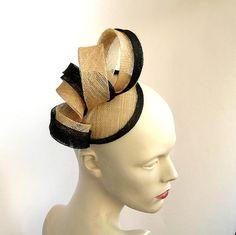 Sinamay fascinator hatCoctail hatMini hatWedding