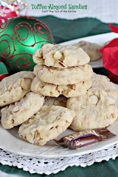 Christmas cookies with toffee