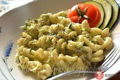 Cestoviny s cuketou a nivou Pasta Salad, Food And Drink, Veggies, Ethnic Recipes, Coffee, Crab Pasta Salad, Vegetable Recipes, Kaffee, Cold Noodle Salads