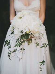 """white and vine bouquet - i like the """"vines"""" in a bridal bouquet"""
