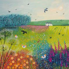 Midsummer Meadow - acrylic on a 50 x 50cm standard canvas.