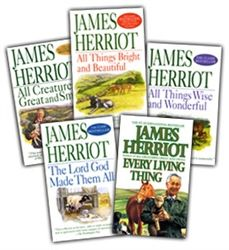 These books follow James Herriott has he starts his career at a vet in the 1940's. Warm, funny and filled with wonderful stories about the animals he loves and the people he meets along the way.