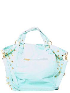 #Mint Studded #Bag