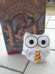 Harry Potter inspired Owl embroidered plush toy by ginandpolyjuice, $20.00