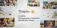 Download and review of Diopter - Creative Responsive Photography / Portfolio WordPress Theme, one of the best Themeforest Creatives themes