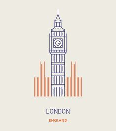Makers Company have created this set of 12 iconic illustrations for a selection of the world's most famous landmarks. London Logo, London Icons, Big Ben, City Icon, 2 Logo, London Photographer, Travel Icon, Dibujos Cute, Monuments