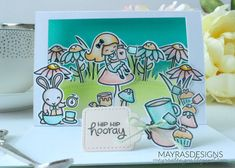 """Mayras Designs: """"Alice In Wonderland"""" Theme with Lawn Fawn, Mayras Designs, Lawn Fawn, Lawn Fawn Stamps, Lawn Fawn Cards, Shadow Box Card,"""