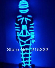 LED Light costume LED robot clothing Cosplay light up costume robot costume ELwire clothes(China (Mainland))