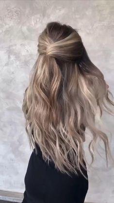 Hairdo For Long Hair, Easy Hairstyles For Long Hair, Simple Braided Hairstyles, Hairstyles For Medium Length Hair, Hair Down With Braid, Dinner Hairstyles, Country Hairstyles, Church Hairstyles, Romantic Hairstyles
