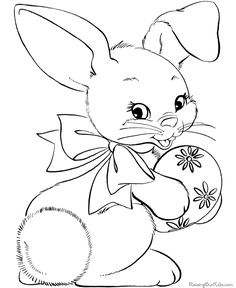 Easter coloring  pages - Free, printable Easter bunnies, baskets, easter egg sheets and pictures!